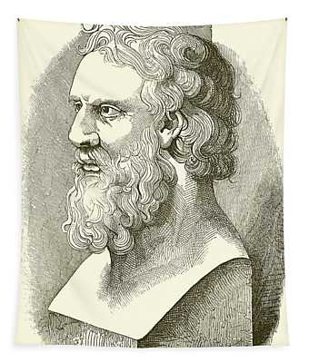 Greek Bust Of Plato Tapestry