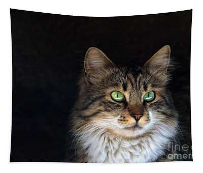 Green Eyes Tapestry