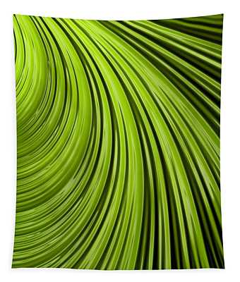 Green Flow Abstract Tapestry
