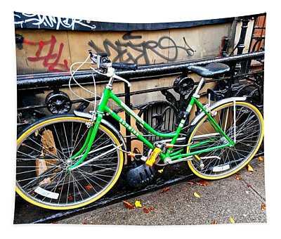 Green Schwinn Bike  Nyc Tapestry