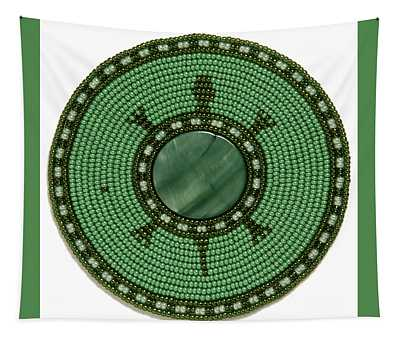 Green Shell Turtle Tapestry