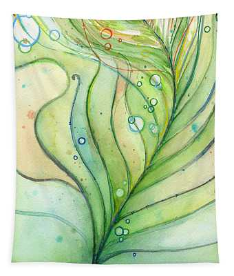 Green Watercolor Bubbles Tapestry