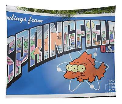 Greeting From Springfield Usa Tapestry