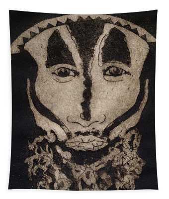 Greetings From New Guinea - Mask - Tribesmen - Tribesman - Tribal - Jefe - Chef De Tribu Tapestry