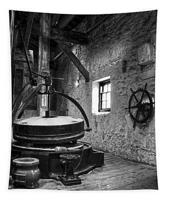 Grinder For Unmalted Barley In An Old Distillery Tapestry