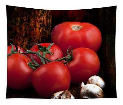 Group Of Vegetables Tapestry