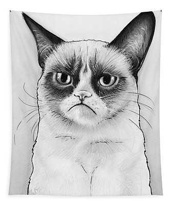 Grumpy Cat Portrait Tapestry
