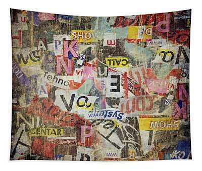 Grunge Textured Background Tapestry