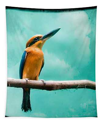 Guam Kingfisher - Exotic Birds Tapestry