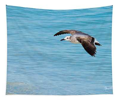 Gull At Lido Beach IIi Tapestry