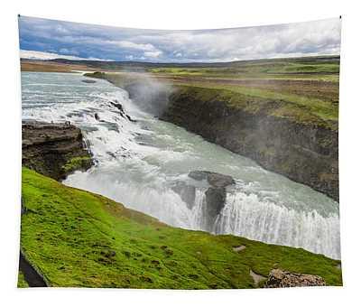 Gullfoss Waterfall Iceland Tapestry