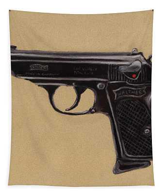 Gun - Pistol - Walther Ppk Tapestry