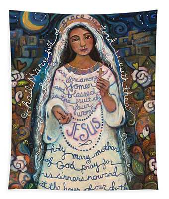 Virgin Mary Wall Tapestries