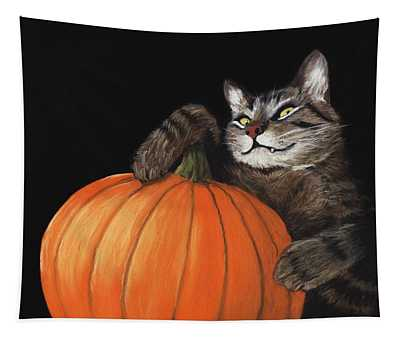 Halloween Cat Tapestry