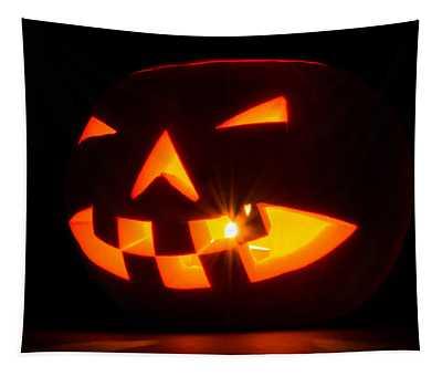Halloween - Smiling Jack O' Lantern Tapestry