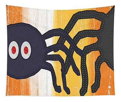 Halloween Spiders Sign Tapestry