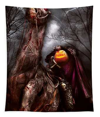 Tapestry featuring the photograph Halloween - The Headless Horseman by Mike Savad