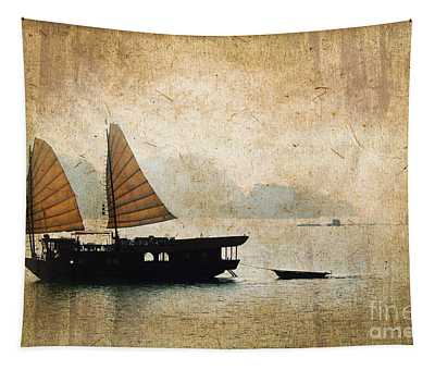 Halong Bay Vintage Tapestry