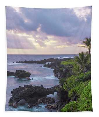 Hana Arches Sunrise 3 - Maui Hawaii Tapestry
