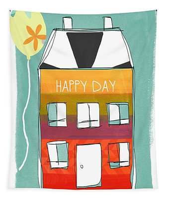 Happy Day Card Tapestry