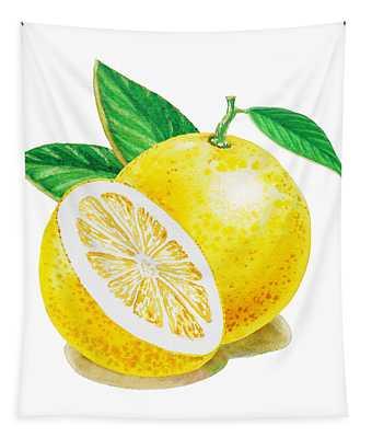 Happy Grapefruit- Irina Sztukowski Tapestry