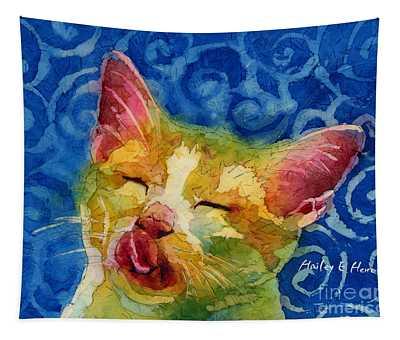 Happy Sunbathing Tapestry