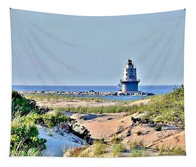Harbor Of Refuge Lighthouse Tapestry