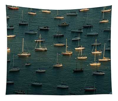 Harbor Sunset Chicago Tapestry
