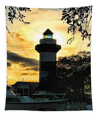 Harbour Town Lighthouse Beacon Tapestry