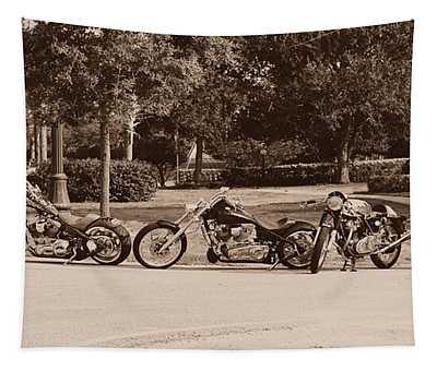 Harley Line Up Tapestry