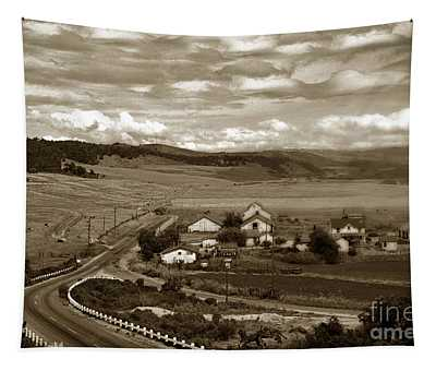 Hatton Ranch Carmel Valley From Highway One California  1945 Tapestry