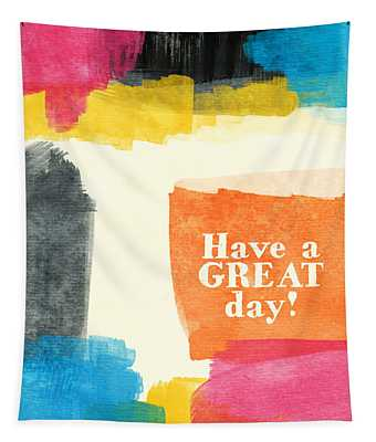 Have A Great Day- Colorful Greeting Card Tapestry