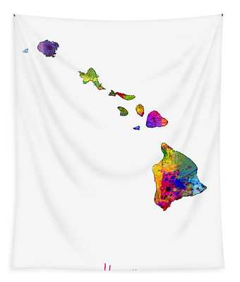 Hawaii Map Tapestry