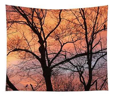 Hawk At Sunrise Tapestry