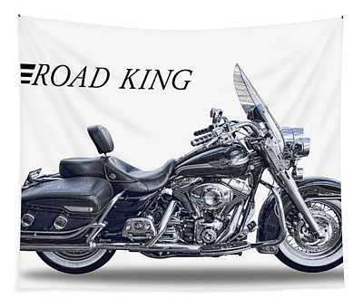 H D Road King Tapestry