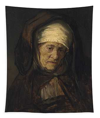 Head Of An Aged Woman Tapestry