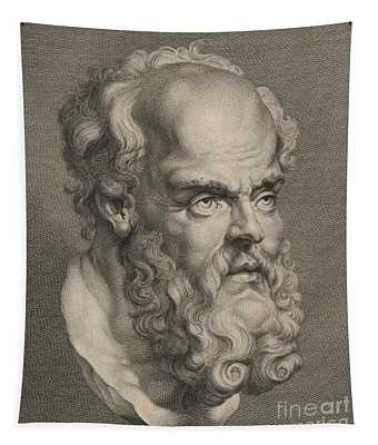 Head Of Socrates Tapestry