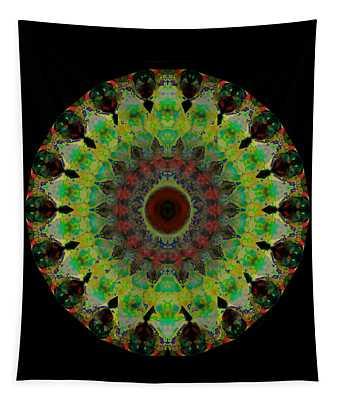 Heart Aura - Mandala Art By Sharon Cummings Tapestry