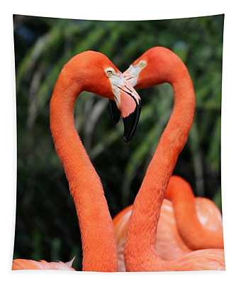 Heart To Heart Flamingo's Tapestry