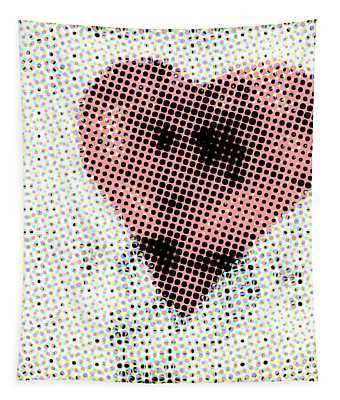 Hearts 21 Square Tapestry