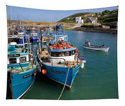Helvick Harbour, Ring Gaeltacht Region Tapestry