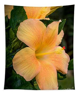Hibiscus Flower Tapestry