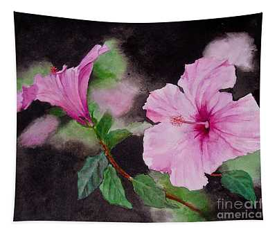 Hibiscus - So Pretty In Pink Tapestry