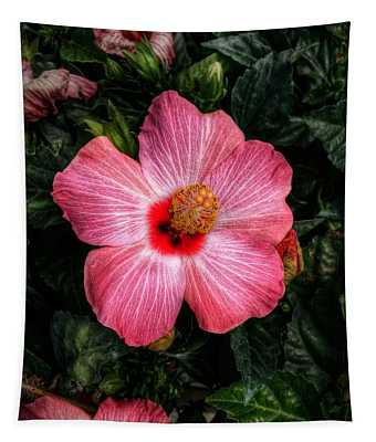 Hibiscus Sunset Tapestry
