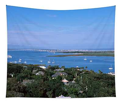 High Angle View From Top Of Lighthouse Tapestry