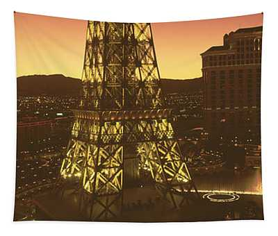 High Angle View Of A City, Las Vegas Tapestry