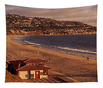 High Angle View Of A Coastline, Redondo Tapestry