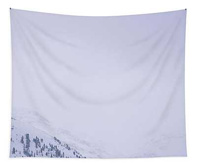 High Angle View Of A Ski Resort Tapestry