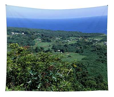 High Angle View Of Landscape With Ocean Tapestry