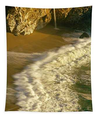 High Angle View Of Waterfall Tapestry